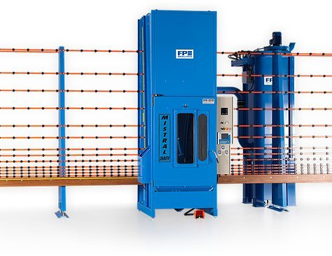 Glass sand-blasting machines