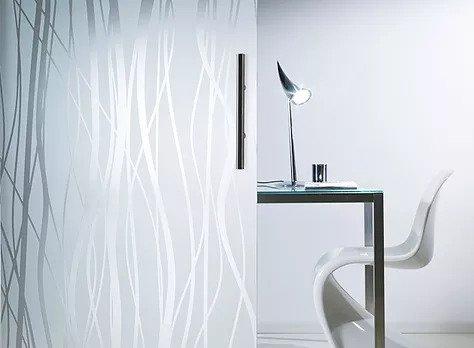 Satinato ornamental glass